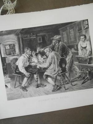 ANTIK ORIGINALLITOGRAFI - STREIT BEIM SPIEL