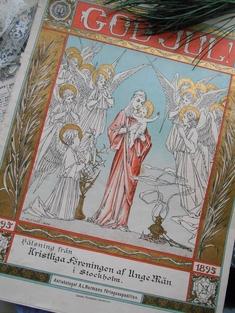 ANTIK JULTIDNING - GOD JUL FRÅN 1895
